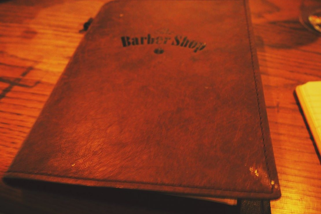 The Barber Shop Menu