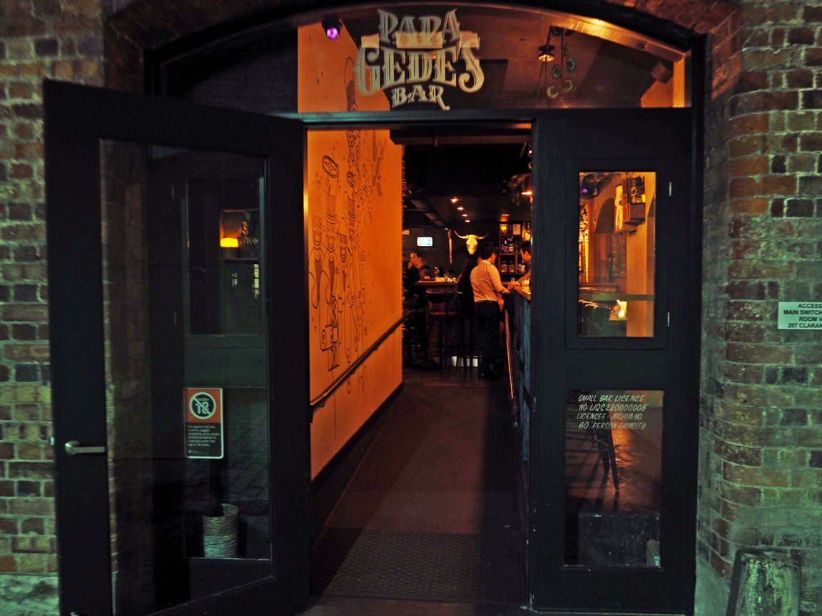 Papa Gede's Bar Entrance