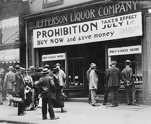 Alcohol Prohibition in America (I do not own rights to this image)