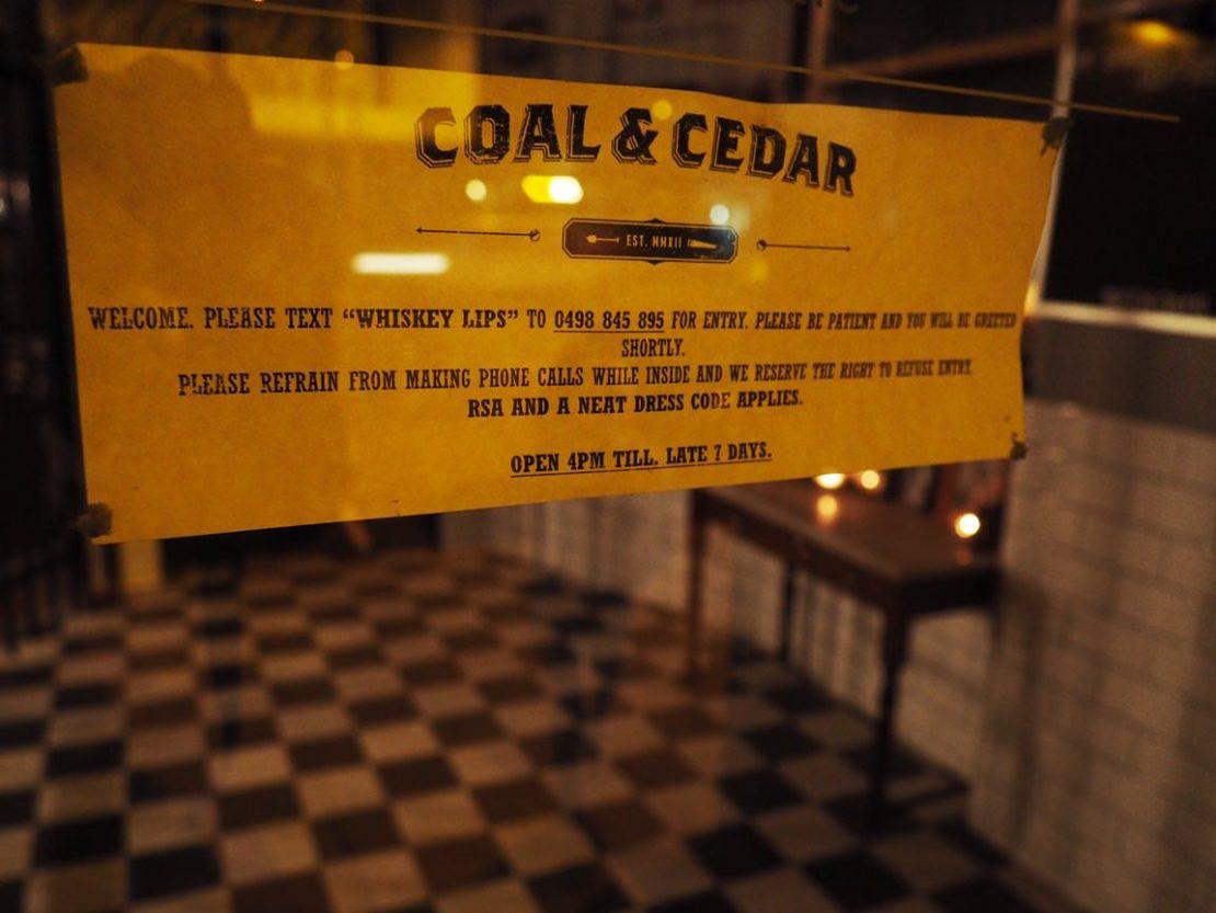 Entry Coal & Cedar